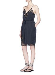 Alexander Wang Lace trim windbreaker slip dress