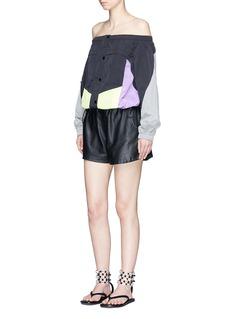 Alexander Wang Colourblock windbreaker off-shoulder top