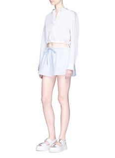 Alexander Wang Deconstructed collar cropped shirt