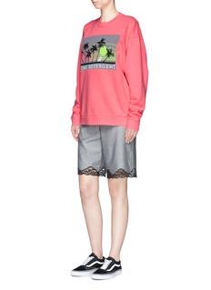 Alexander Wang 'Mind Detergent' knit patch oversized sweatshirt