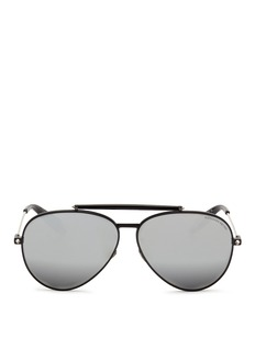 Alexander McQueen 'Piercing Shield Frame' aviator sunglasses
