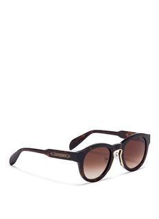 Alexander McQueen Oversized tortoiseshell acetate sunglasses