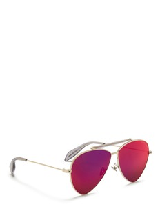 Alexander McQueen'Piercing Shield Frame' aviator sunglasses