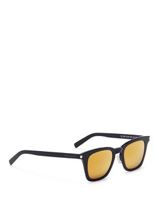 Saint Laurent'SL 138 Slim' acetate square sunglasses