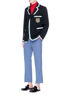 Gucci Bee crest appliqué twill soft blazer