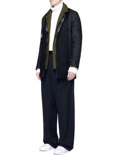 FFIXXED STUDIOS'Workaround' reversible wool-cashmere plaid underlay twill coat