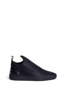 Filling Pieces 'Entwine' woven leather low top slip-on sneakers