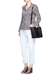 TrussSmall top handle woven PVC tote