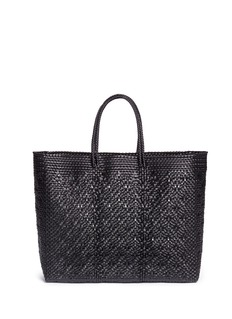 TrussLarge top handle woven PVC tote