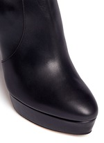 'Mason' stretch nappa leather platform boots