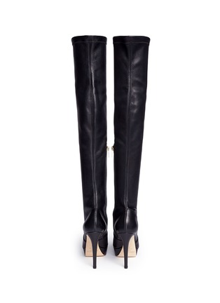 Back View - Click To Enlarge - Jimmy Choo - 'Mason' stretch nappa leather platform boots