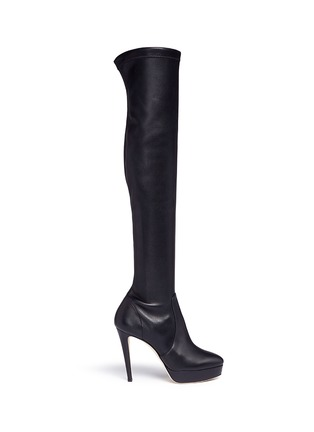 Main View - Click To Enlarge - Jimmy Choo - 'Mason' stretch nappa leather platform boots
