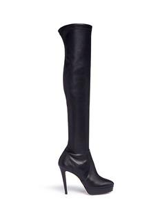 Jimmy Choo'Mason' stretch nappa leather platform boots