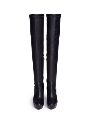 Figure View - Click To Enlarge - Jimmy Choo - 'Mason' stretch nappa leather platform boots