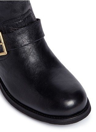 Detail View - Click To Enlarge - Jimmy Choo - 'Youth' buckle leather biker boots