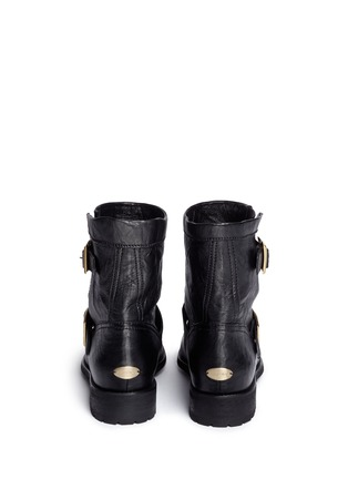 Back View - Click To Enlarge - Jimmy Choo - 'Youth' buckle leather biker boots