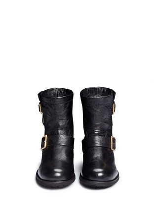 Front View - Click To Enlarge - Jimmy Choo - 'Youth' buckle leather biker boots