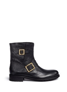 Jimmy Choo 'Youth' buckle leather biker boots
