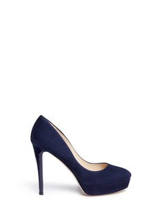 Jimmy Choo 'Alex' acetate heel suede platform pumps