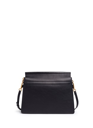 Detail View - Click To Enlarge - Chloé - 'Faye' medium tapestry jacquard panel leather shoulder bag