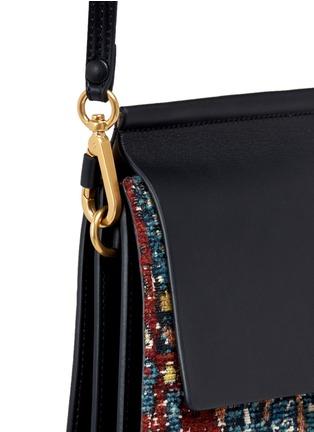 - Chloé - 'Faye' medium tapestry jacquard panel leather shoulder bag