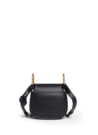Detail View - Click To Enlarge - Chloé - 'Hudson' mini heart charm leather saddle bag