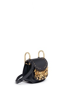 Chloé 'Hudson' mini heart charm leather saddle bag