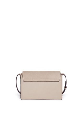 Detail View - Click To Enlarge - Chloé - 'Faye' small stud suede and leather crossbody bag