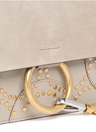 - Chloé - 'Faye' small stud suede and leather crossbody bag