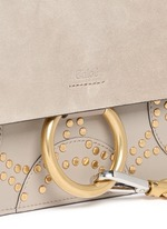 'Faye' small stud suede and leather crossbody bag