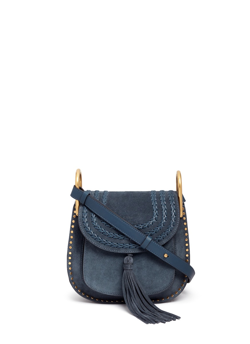 Hudson small braided suede saddle bag by Chloé
