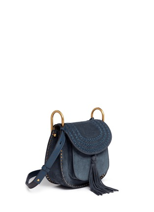 Figure View - Click To Enlarge - Chloé - 'Hudson' small braided suede saddle bag