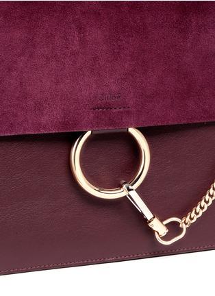 Chloé-'Faye' medium suede flap leather shoulder bag