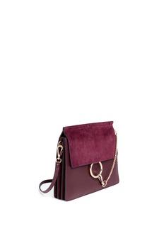Chloé'Faye' medium suede flap leather shoulder bag