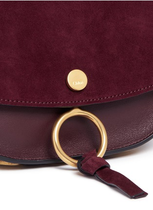 - Chloé - 'Kurtis' mini suede flap leather crossbody saddle bag