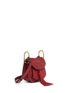 Chloé'Hudson' mini braided leather saddle bag