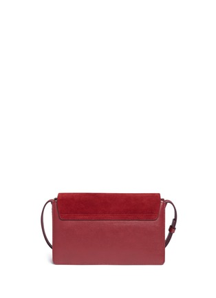 Detail View - Click To Enlarge - Chloé - Faye' small suede and leather crossbody bag