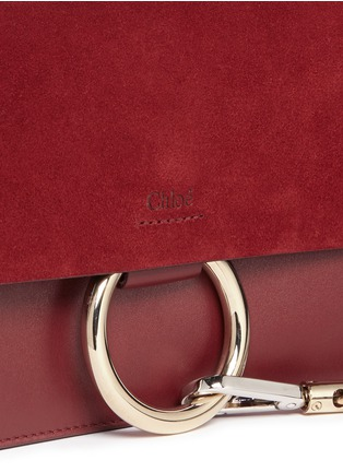 - Chloé - Faye' small suede and leather crossbody bag