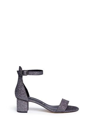 Main View - Click To Enlarge - Pedder Red - Glitter mesh strap block heel sandals