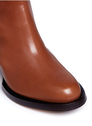 Detail View - Click To Enlarge - Dries Van Noten - Chunky heel zip leather boots