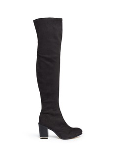Pedder Red Suede knee high boots