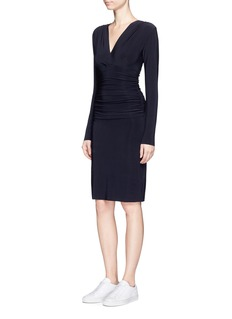 Norma Kamali Shirred waist stretch jersey dress