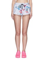 'The Botanica' print drawstring running shorts