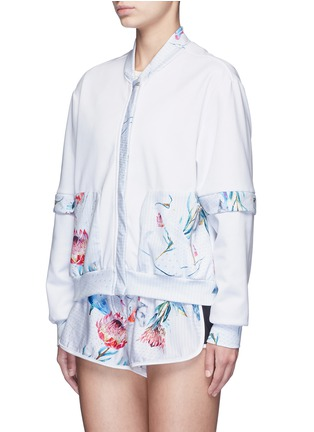 Front View - Click To Enlarge - We Are Handsome - 'The Botanica' print panelled track jacket
