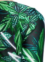 'The Retrograde' forest print active crossover top