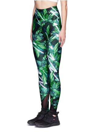 Front View - Click To Enlarge - We Are Handsome - 'The Retrograde' forest print active leggings