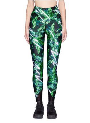Main View - Click To Enlarge - We Are Handsome - 'The Retrograde' forest print active leggings