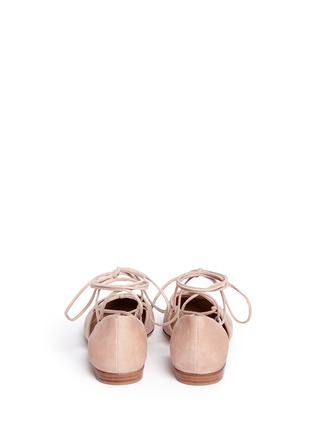 Back View - Click To Enlarge - Stuart Weitzman - 'Gilligan' d'Orsay suede lace-up flats
