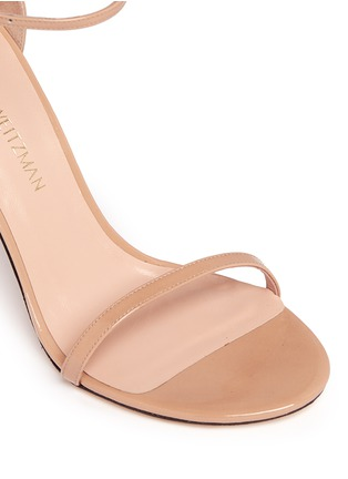 Stuart Weitzman - 'Nudist Song' ankle strap patent leather sandals