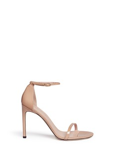 Stuart Weitzman 'Nudist Song' ankle strap patent leather sandals
